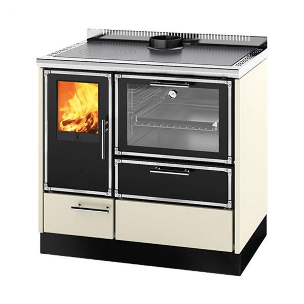 Stufa a legna con forno e piano cottura